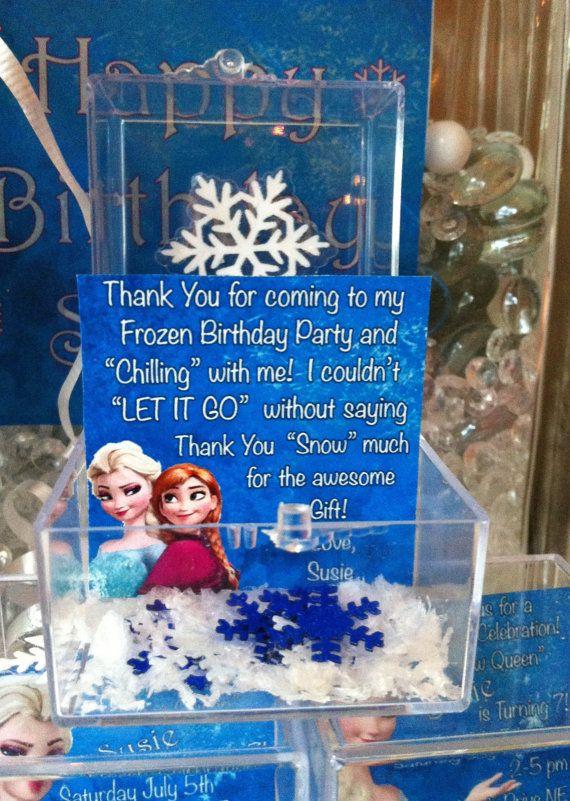 Frozen Birthday party favor hard plastic cube by ThePrintedOwl, $5.00