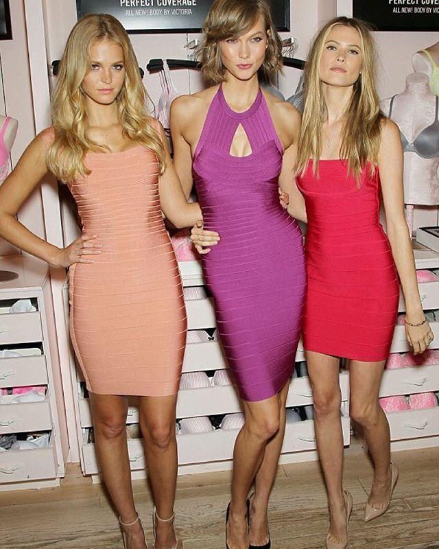 VS Angels looking incredible in Herve Leger. Hire yours today at www.iamfinesse.com.au #HerveLeger #IamFinesse #DesignerDressHire #Australia #Luxury #NewArrivals #Luxury #Dresses #OnlineDressHire #Fashionlovers #Fashionblogger #DressHire #Sophistication #Elegance #Class