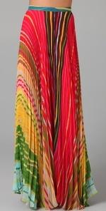 Alice + Olivia - Shannon Printed Long Skirt #maxi_skirt #printed_skirt #alice+olivia