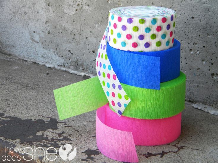 Fun and simple new twist on crepe paper streamers -- cute idea for a party.: Baby Kids Ideas, 1 Crepe Paper, Streamer Banner, Crepe Paper Streamers, Cute Ideas, Paper Banners, Paper Streamers Cute, Party Ideas, Birthday Ideas