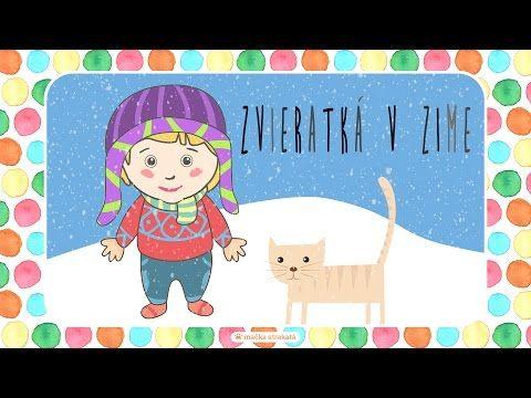 Zvieratká v zime - 7. časť série Zvieratká a ich zvuky pre deti - YouTube