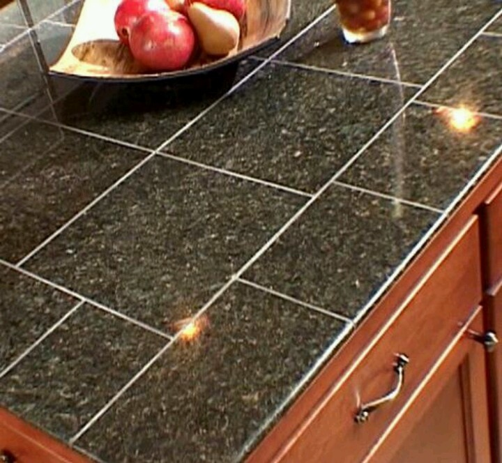 granite tile countertop tile countertops pinterest