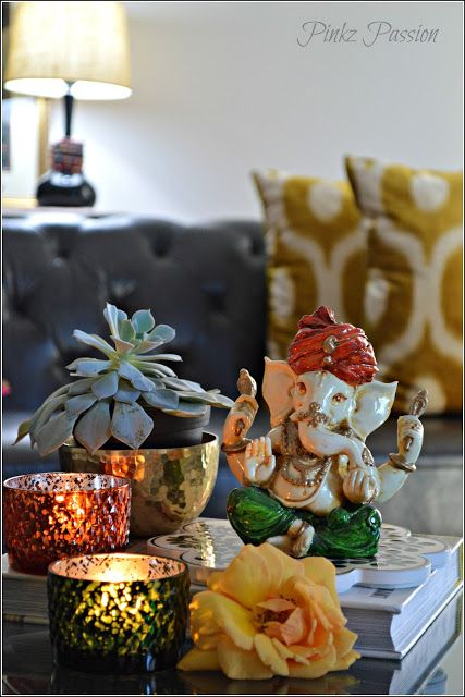 Ganesh Chaturthi Decor Ideas Ganesha Collection Vignettes Indian