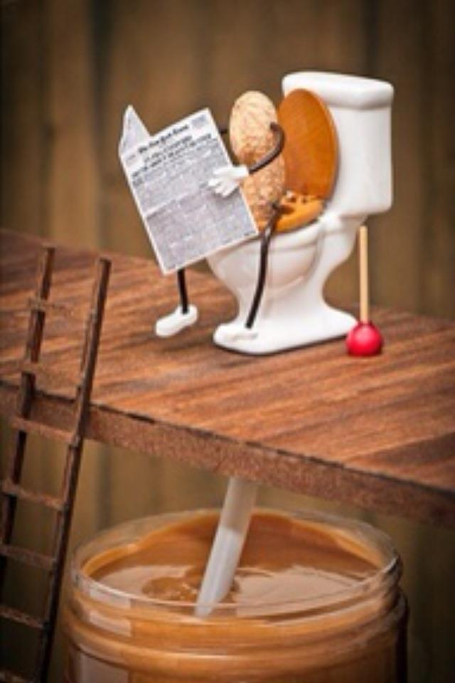 How peanut butter is made ;)  gross but hilarious