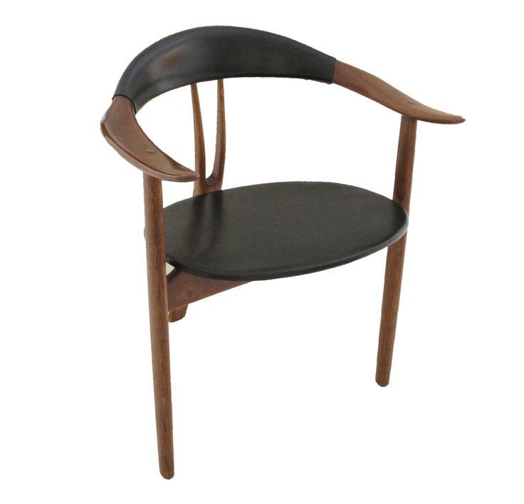 Arne Hovmand Olsen Sculptural Tri-Leg Armchair image 2
