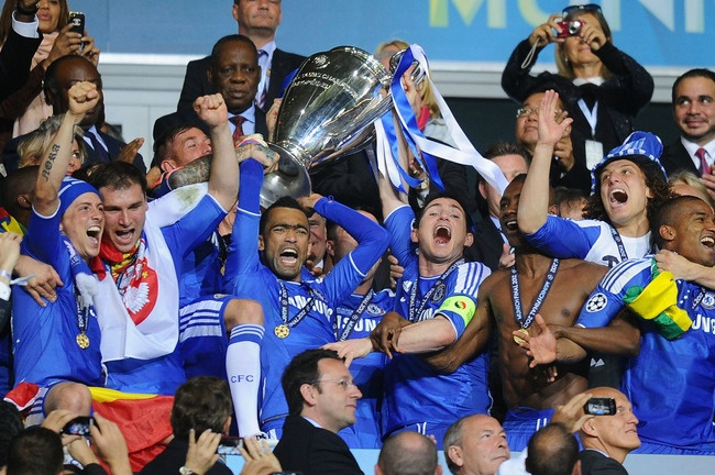 Chelsea 2012 Champions League Champions for the first time ever