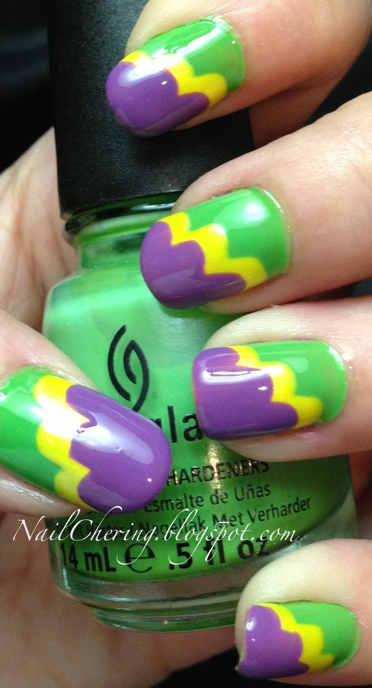 29 best Mardi Gras Nails images on Pinterest | Mardi gras, Nail art ...