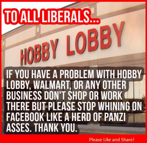 The Liberal whining has reached new levels! Listening to them on the Hobby Lobby case you'd of thought the Civil Rights Amendment was repealed.