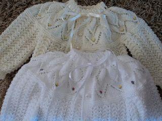Mimos da vovó: casaquinho de bebê