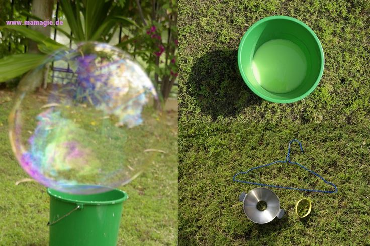 Riesenseifenblasen herstellen