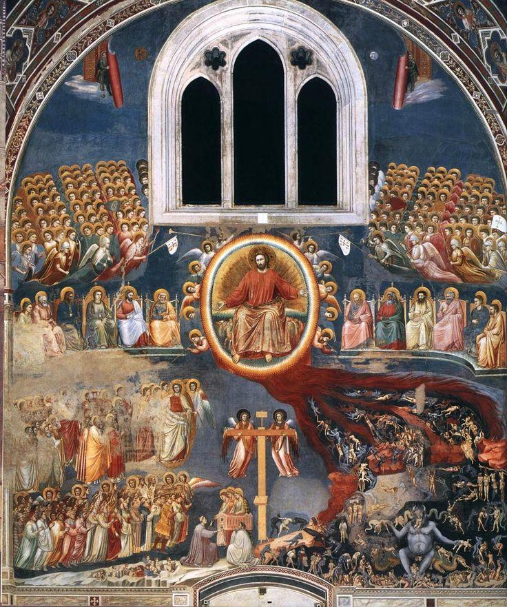 GIOTTO, Giudizio Universale, Cappella degli Scrovegni 1306 affresco