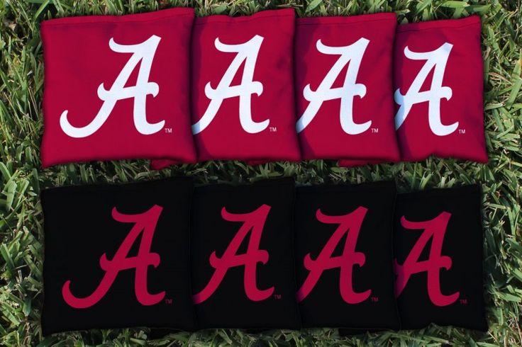 Alabama Crimson Tide Replacement Cornhole Bag Set  (corn filled)