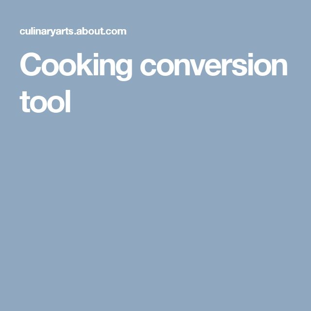 Cooking conversion tool