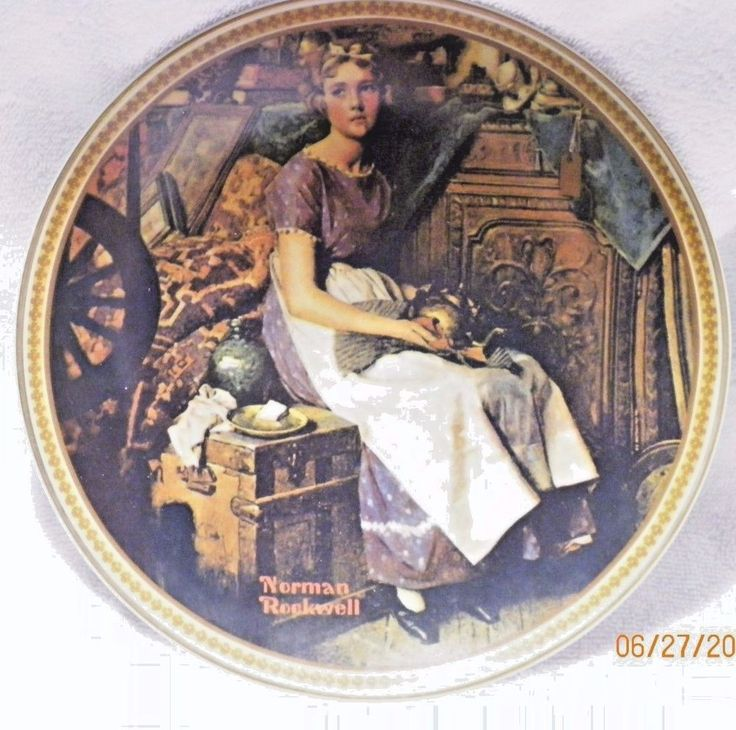 """""""Dreaming in The Attic"""" Norman Rockwell Collector Plate with COA #NormanRockwell"""