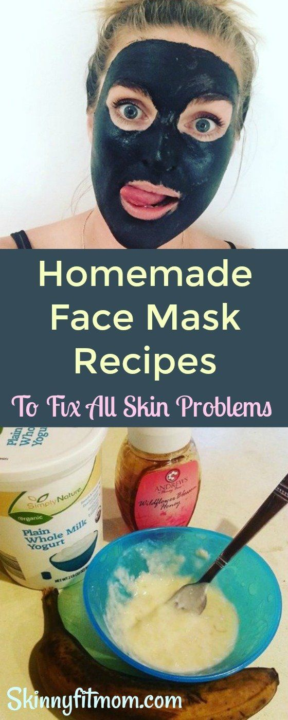 8 Homemade Face Mask Recipes To Fix All Skin Problems. These face masks work for any and all skin problems and give you #smoothskin. #skincare #facemaskrecipes