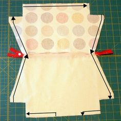 Flat bottom pouch tutorial, and how to draft the pattern
