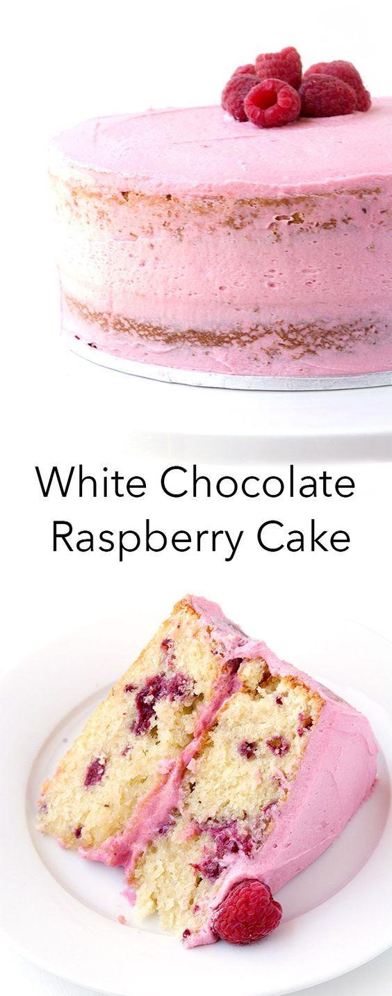 White Chocolate Raspberry Layer Cake