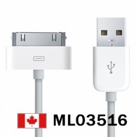 OEM Apple USB 2.0 Cable For iPod Touch iPhone    Price = $8.99