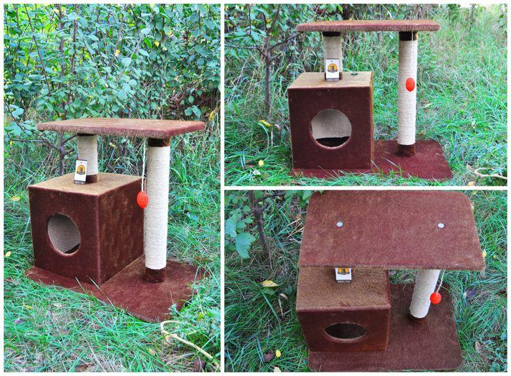 """Когтеточка домик для кошки """"Теремок"""" от Интернет-мастерской """"Усатый-Полосатый"""" http://kogtetochki.com/product/44  cat tree, cat post, cat screatcher"""