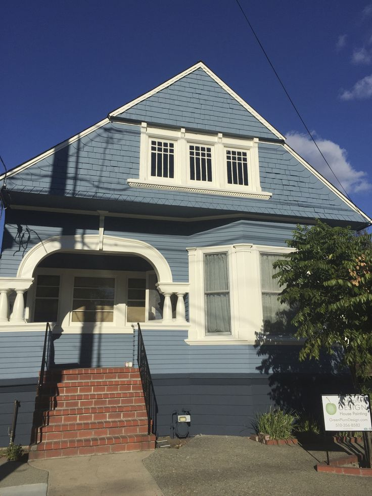 Lower blue benjamin moore blue note upper blue normandy - Benjamin moore exterior paint finishes ...