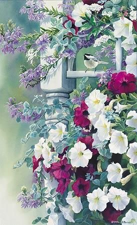 Vintage Garden by Susan Bourdet, (watercolor)