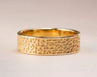 Bague de mariage pour homme or blanc par PreciousLaceJewelry