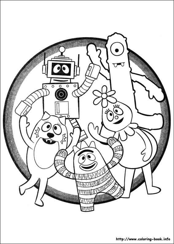 yo gabba gabba 02 coloring page for kids and adults from cartoons coloring pages miscellaneous coloring pages - Yo Gabba Gabba Coloring Pages