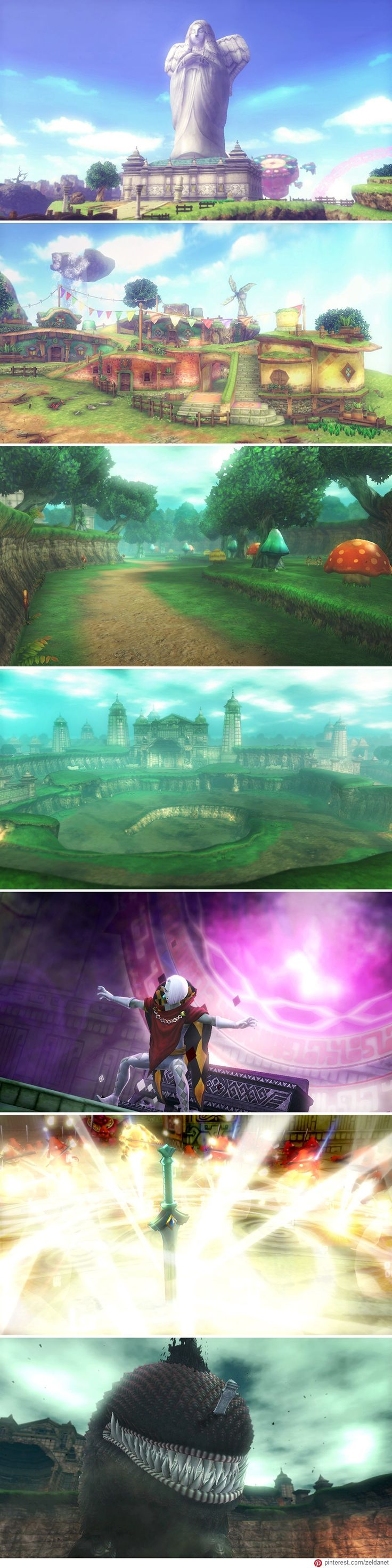 Hyrule Warriors: Skyward Sword update (July 2014) - #Skyward_Sword stage montage by http://www.pinterest.com/zeldanet