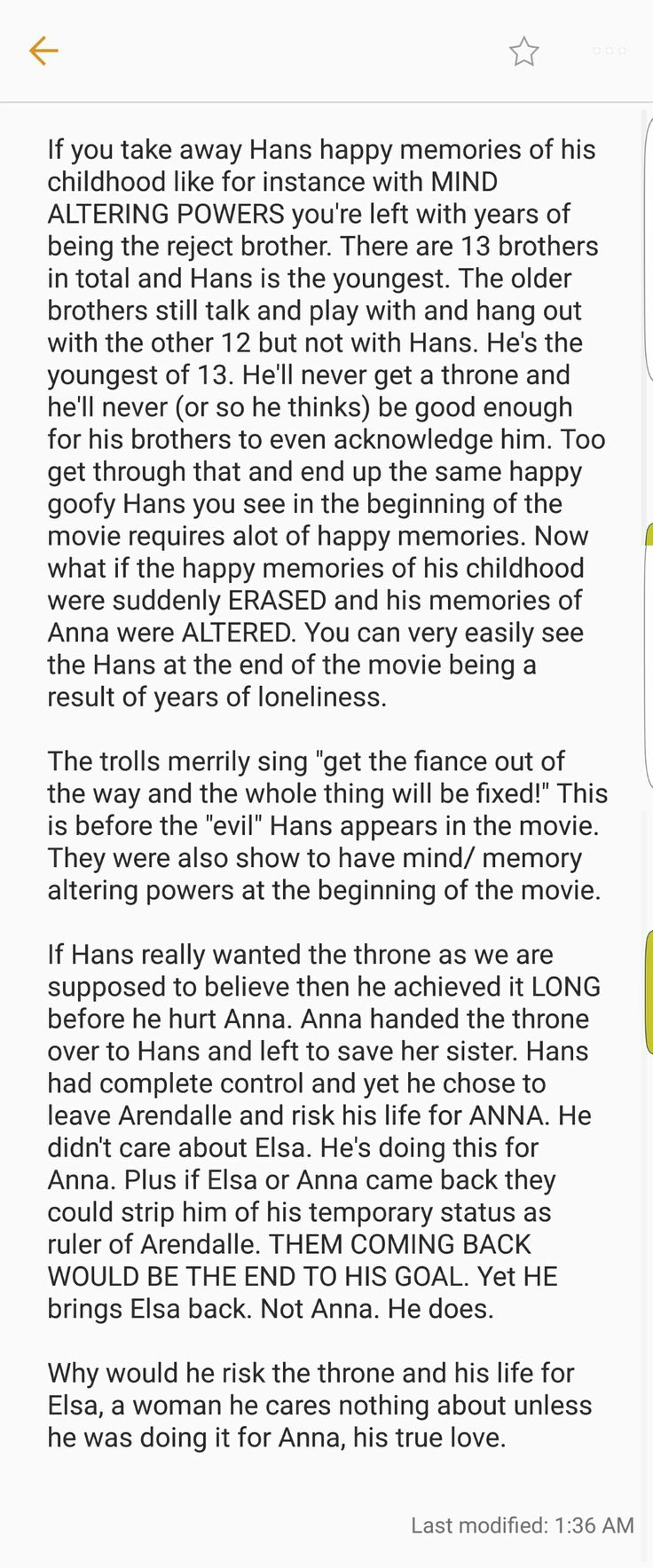Hans in Frozen. A deeper look into the Film Theory theory.