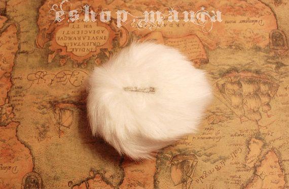 Bunny Rabbit Bear round Tail White / Pink / Dark by eshopmania