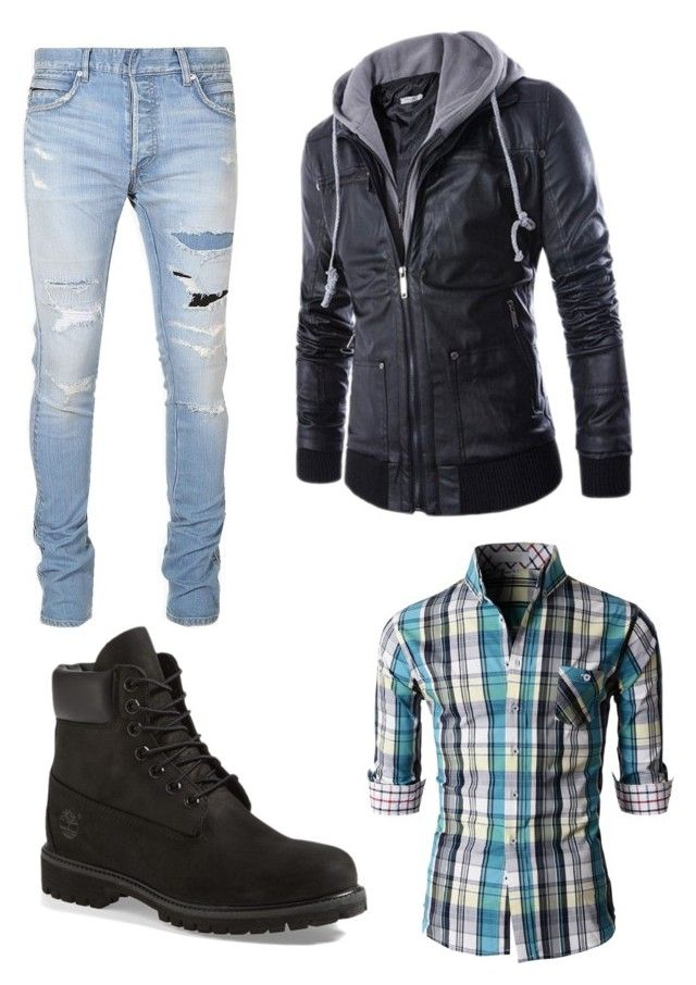 """""""#43."""" by annavellucci on Polyvore featuring Balmain, Timberland, men's fashion and menswear"""