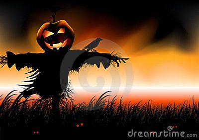 Cartoon Illustration about Halloween Falls