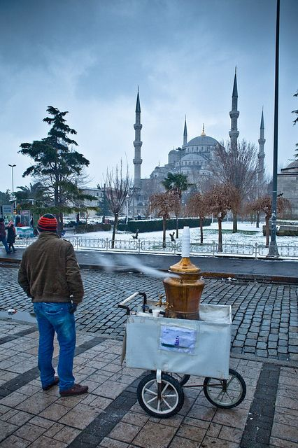 Hot Tea by the Blue Mosque - Istanbul