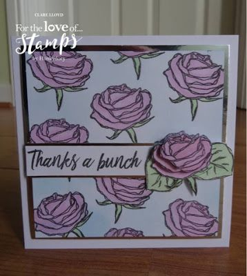 roses! One of the brand new stamp sets launching today by Hunkydory and can be seen on a Create and Craft with the first show at 9am. I ...