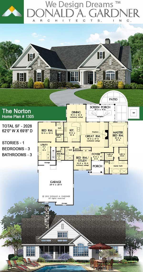 The Norton House Plan 1305 Craftsman House Plans Unique Small House Plans Craftsman Style House Plans