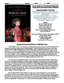185 best high school homeschool images on pinterest high school spirited away film 2001 study guide movie packet fandeluxe Gallery