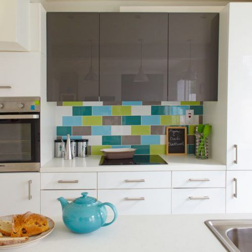 Best Crédences Cuisines Images On Pinterest Cement Tiles - Country kitchen splashback ideas