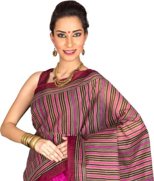 LadyIndia.com #Printed Sarees, Stylish PolyCotton Multicolor Saree For Women -Sari, Printed Sarees, Casual Saris, Silk Saree, https://ladyindia.com/collections/ethnic-wear/products/stylish-polycotton-multicolor-saree-for-women-sari