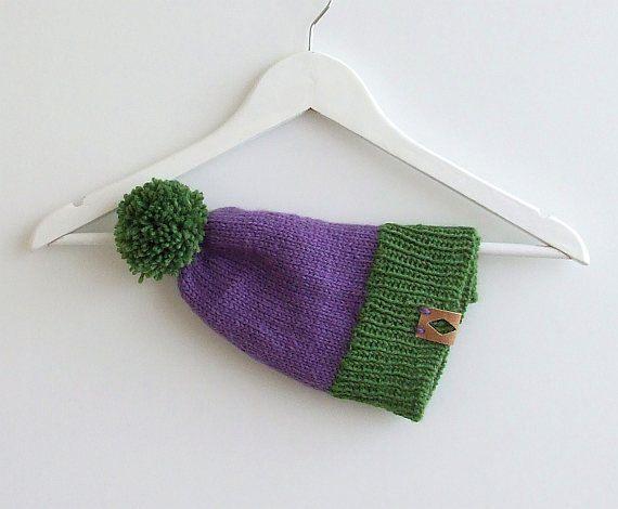 Womens Pom Pom Hat by AJatelier on Etsy