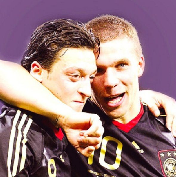 Podolski and Özil  Germany national football team