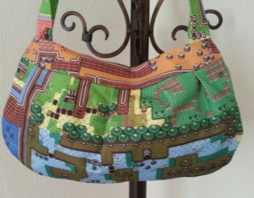 Legend Of Zelda A Link To The Past Map Hand Bag