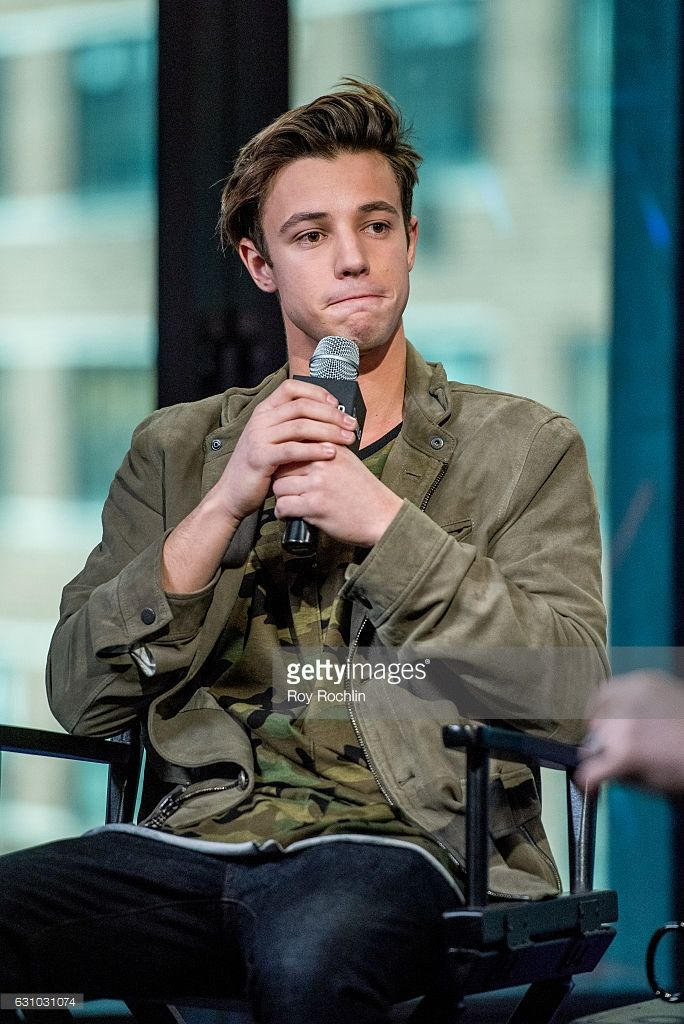 Cameron Dallas discusses 'Know Thy Selfie' with the Build Series at AOL HQ on January 5, 2017 in New York City.