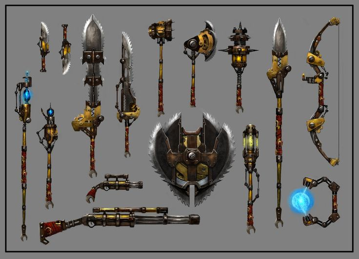 "Guild Wars 2 - ""Engineer weapons concept designs"""
