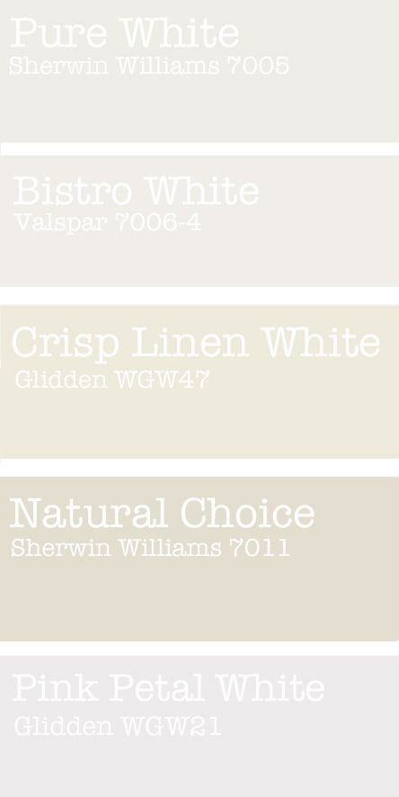 Fresh Favorite White Paint Colors Color Inspiration Pinterest Paints And