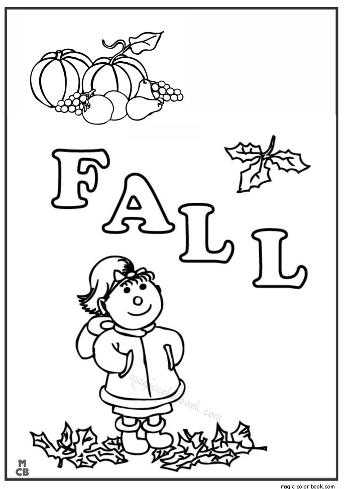 Autumn coloring page free for print 03