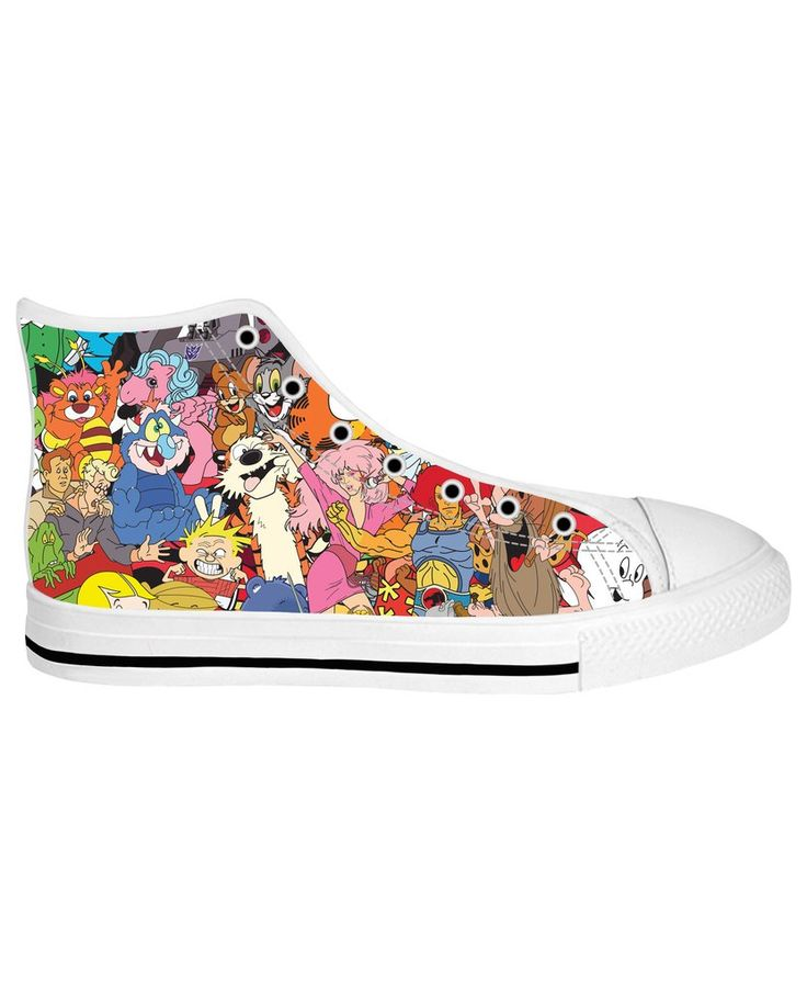 80's Cartoon Collage White Sole High Tops https://shop.ragejunkie.com/collections/shoes-hightop-whitesole/products/80s-cartoon-collage-white-sole-high-tops?variant=36265093452