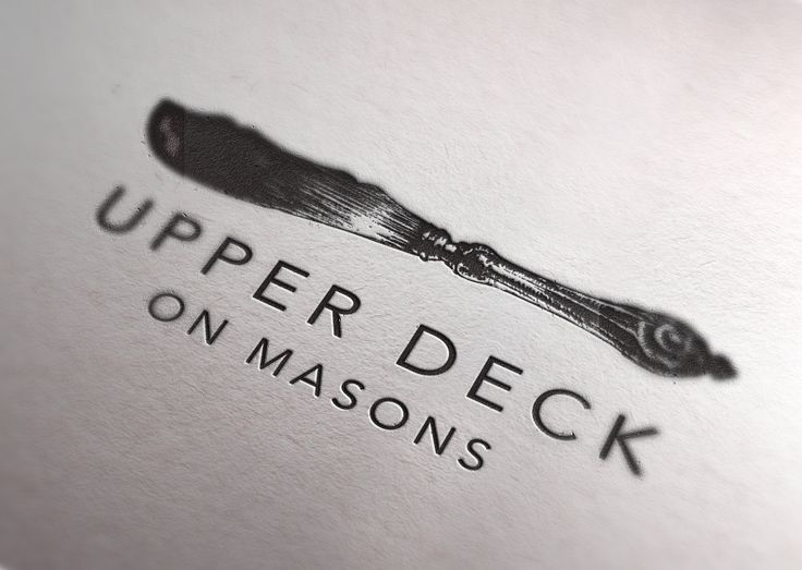 #logo #branding #restaurant #upperdeckonmasons #ariadnesstudio www.ariadnesthread.com.au/design