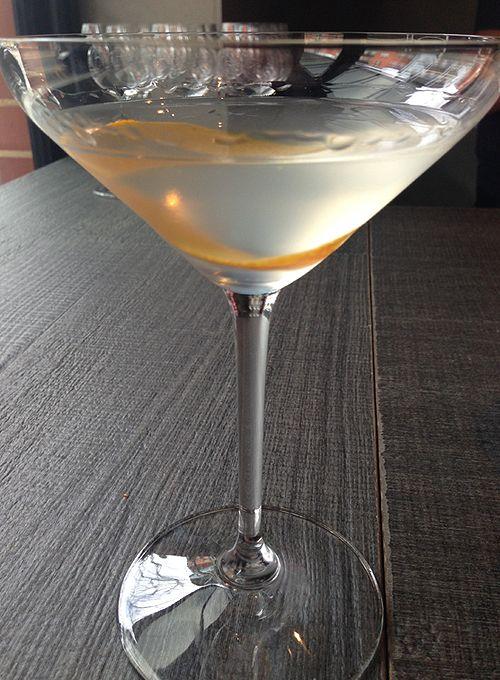 Martini with 60ml Four Pillars Rare Dry Gin, 15ml dry vermouth and orange or lemon peel.