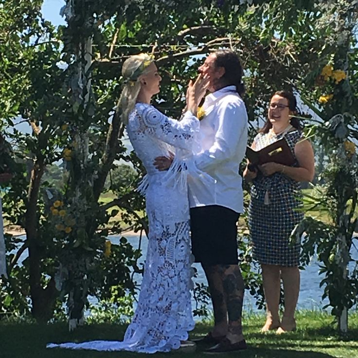 This wedding was at Terara Riverside Gardens, Terara, NSW. This fun loving couple laughed and completely enjoyed their ceremony. Both the Mum's surprised them with a Butterfly ceremony just awesome and what a special moment it was.