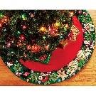Mary Engelbreit Wreath Tree Skirt Felt Applique Kit-42 Inch Round 046109854663 eBay